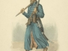 Стрелец с мушкетом и бердышом