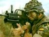 Испанский военный с гранатометом AG36 на винтовке G36E