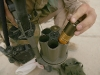 Процесс заряжания гранатомета Milkor MGL